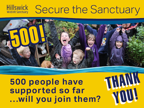We've reached our target – 500 pledges!